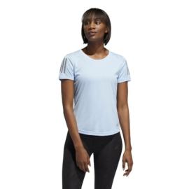 ADIDAS OWN THE RUN TEE női kék póló