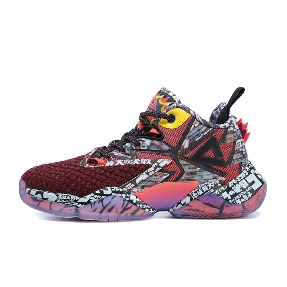 Peak × GODZILLA TAICHI Flash kosárlabda cipő piros/fekete/szürke