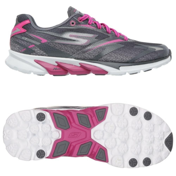 Skechers GOrun 4 női futócipő - szürke-pink