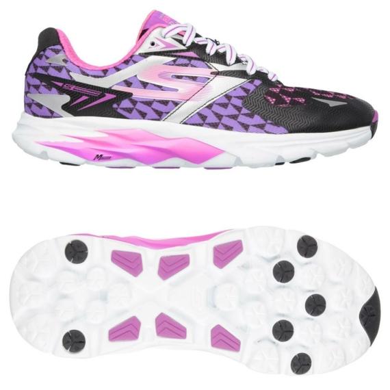 Skechers GOrun Ride 5 női futócipő - fekete-lila-fehér