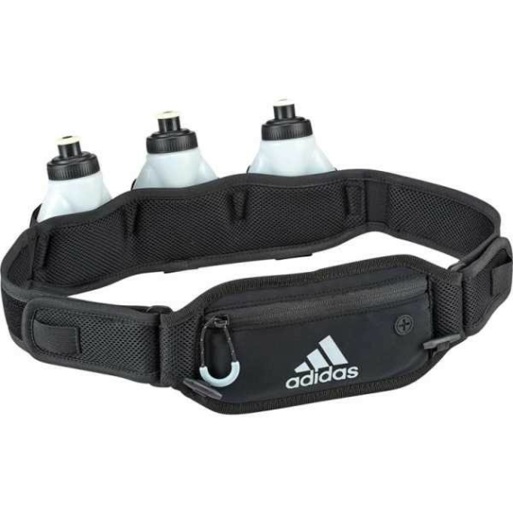 Adidas Runing futóöv kulacsokkal - fekete