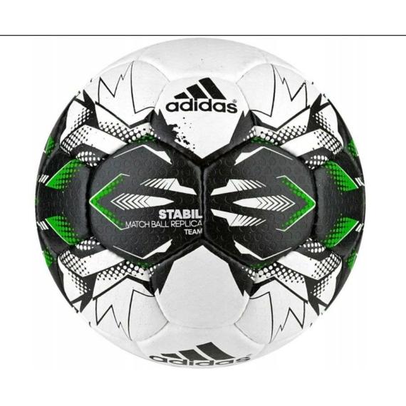 Adidas Stabil Champ 9 kézilabda mérkőzéslabda - fehér-fekete-neonzöld-kék
