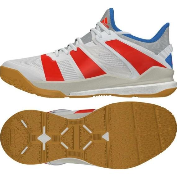 Adidas Stabil X kézilabda cipő- fehér-piros