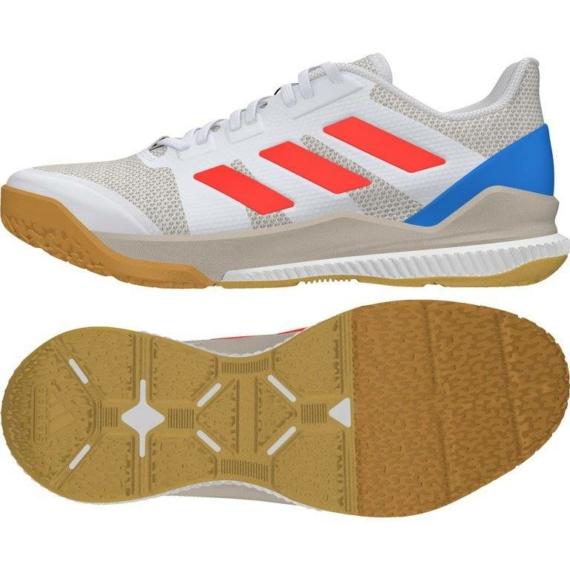 Adidas Stabil Bounce kézilabda cipő fehér-piros-kék