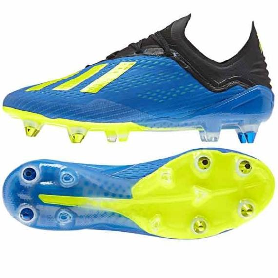 Adidas X 18.1 SG féléles cipő - kék -neonsárga
