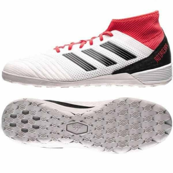 Adidas Predator Tango 18.3 Férfi teremcipő - fehér-piros-fekete
