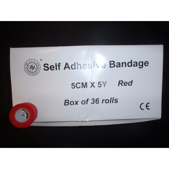 Öntapadós bandázs (5cmx5y; piros)