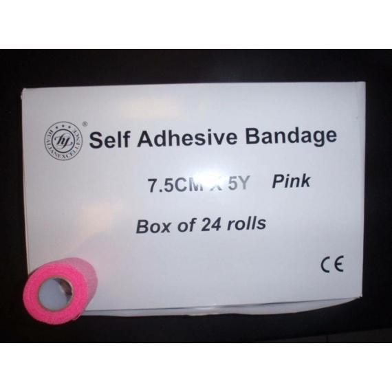 Öntapadós bandázs (7,5cmx5y; rózsaszín)