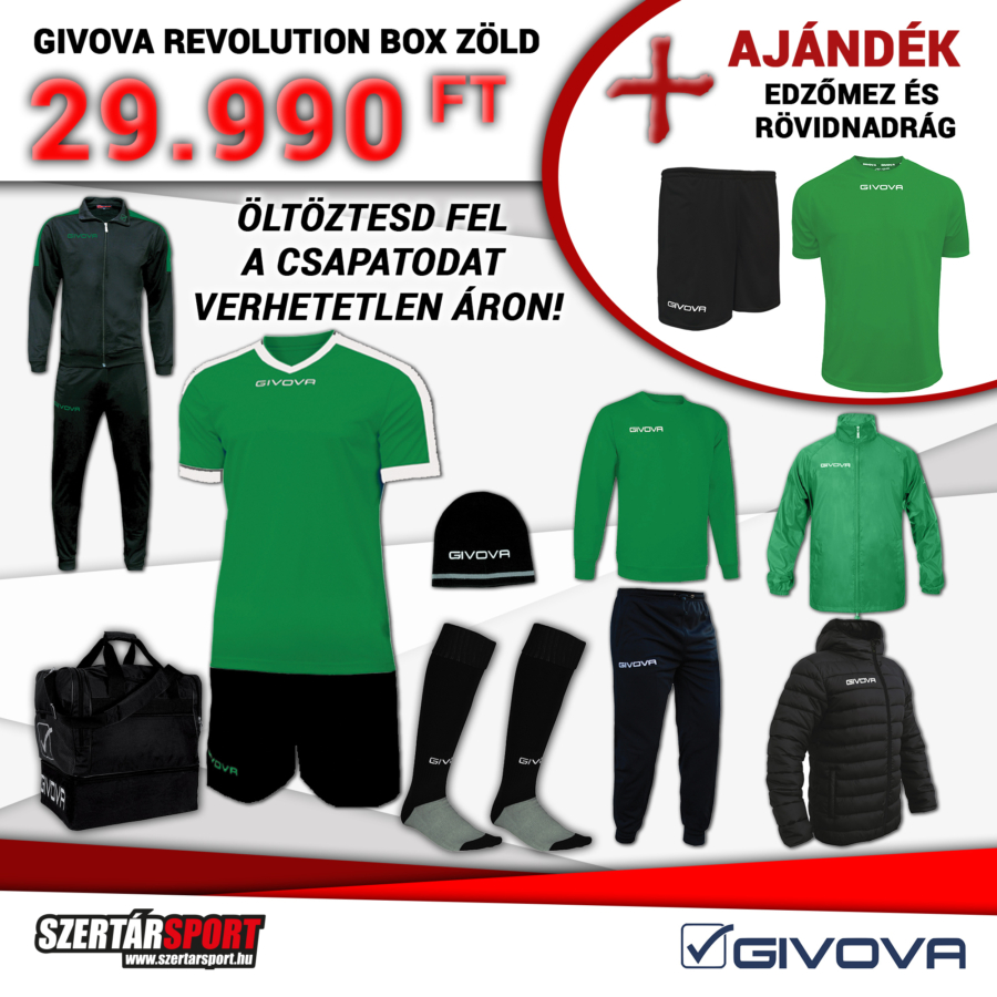 Kép 1/1 - Givova Revolution Box zöld