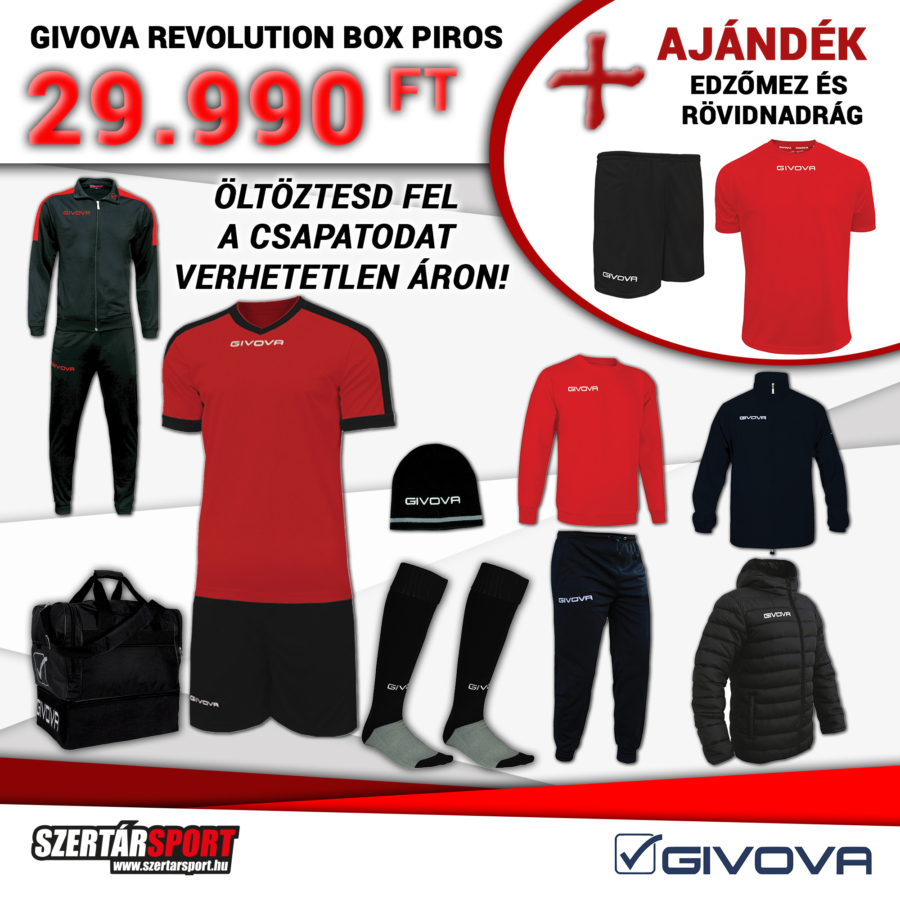 Kép 1/1 - Givova Revolution Box piros