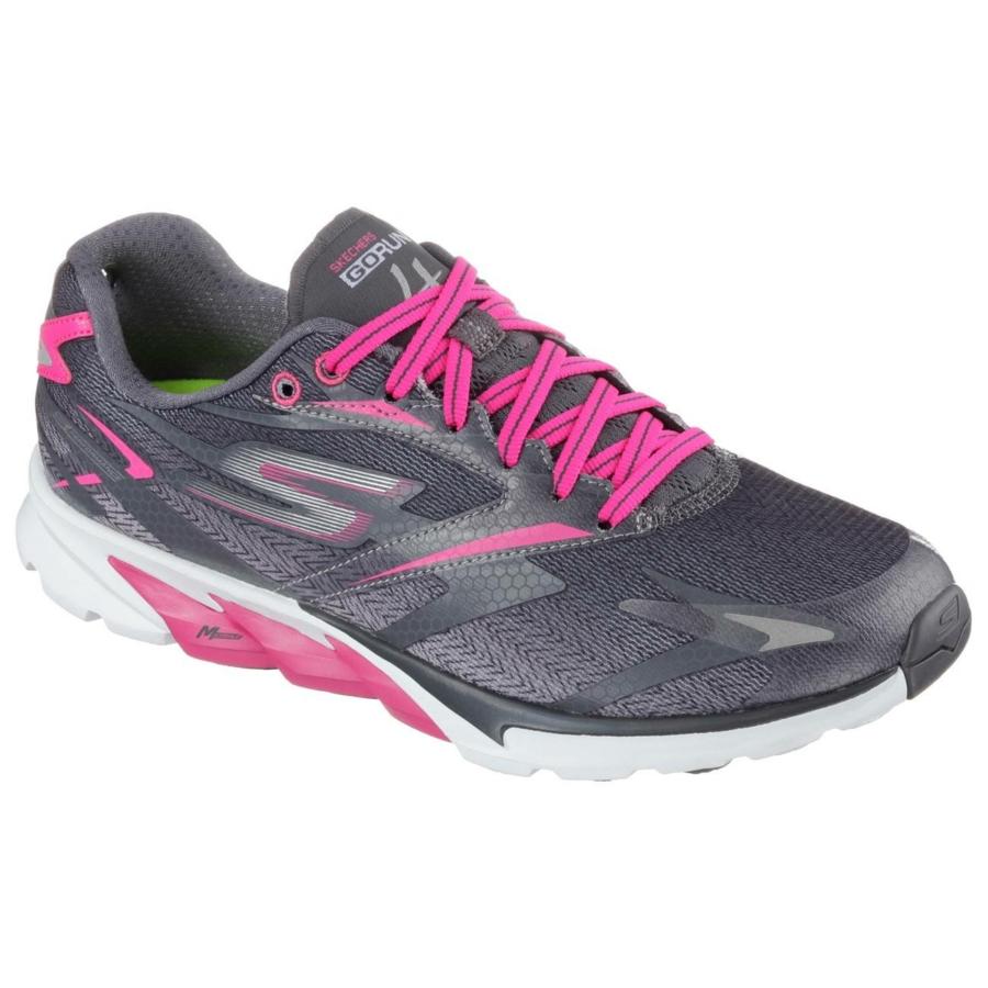 Kép 2/7 - Skechers GOrun 4 női futócipő - szürke-pink 1