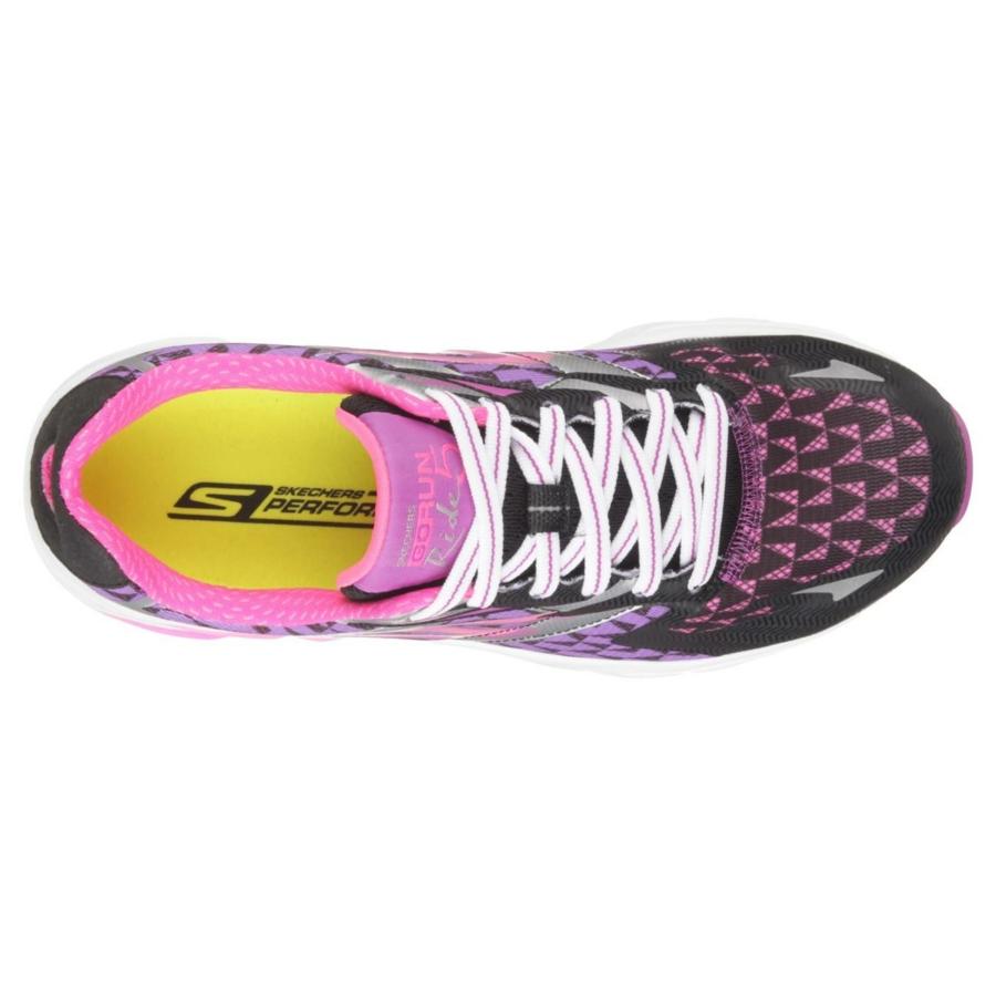 Kép 4/7 - Skechers GOrun Ride 5 női futócipő - fekete-lila-fehér 3