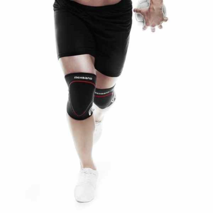 Kép 3/3 - Rehband RX Speed Gyerek térdvédő  (2db/csomag) - fekete-piros 2