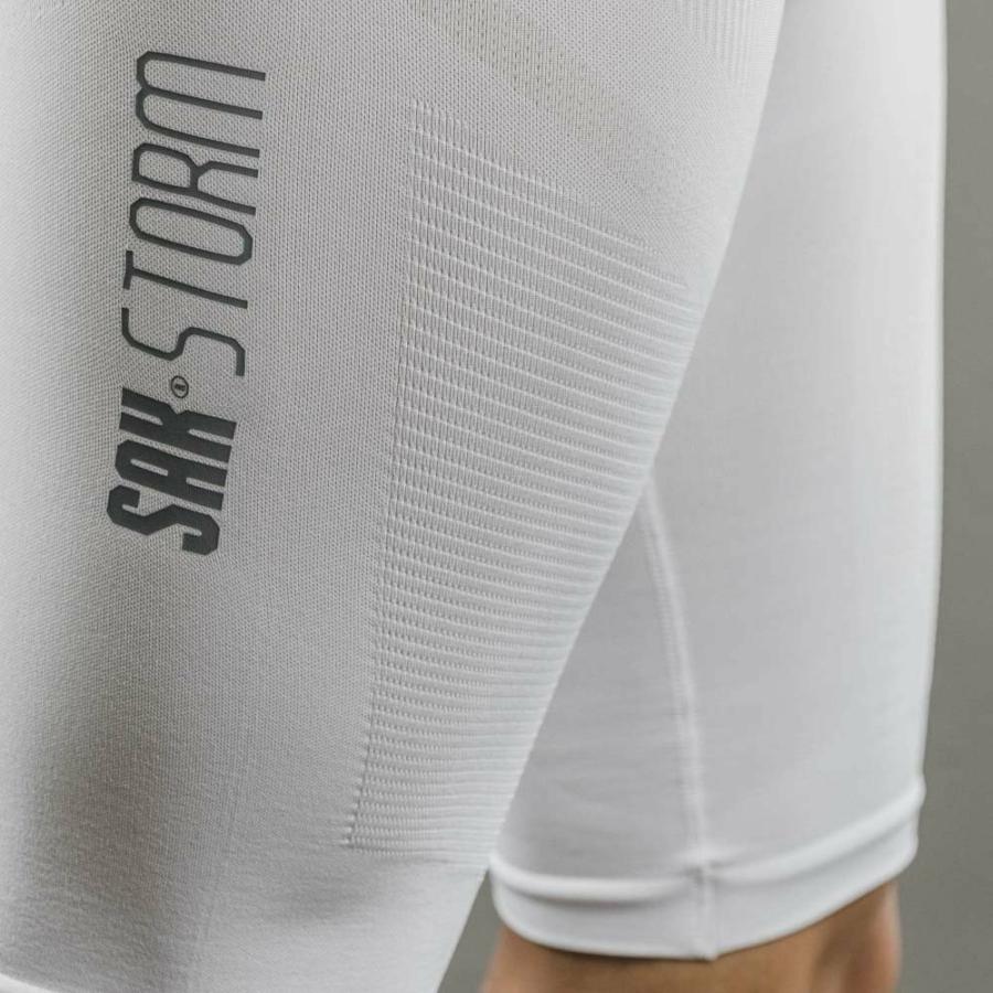 Kép 3/4 - Sak Storm compression rövidnadrág fehér 2