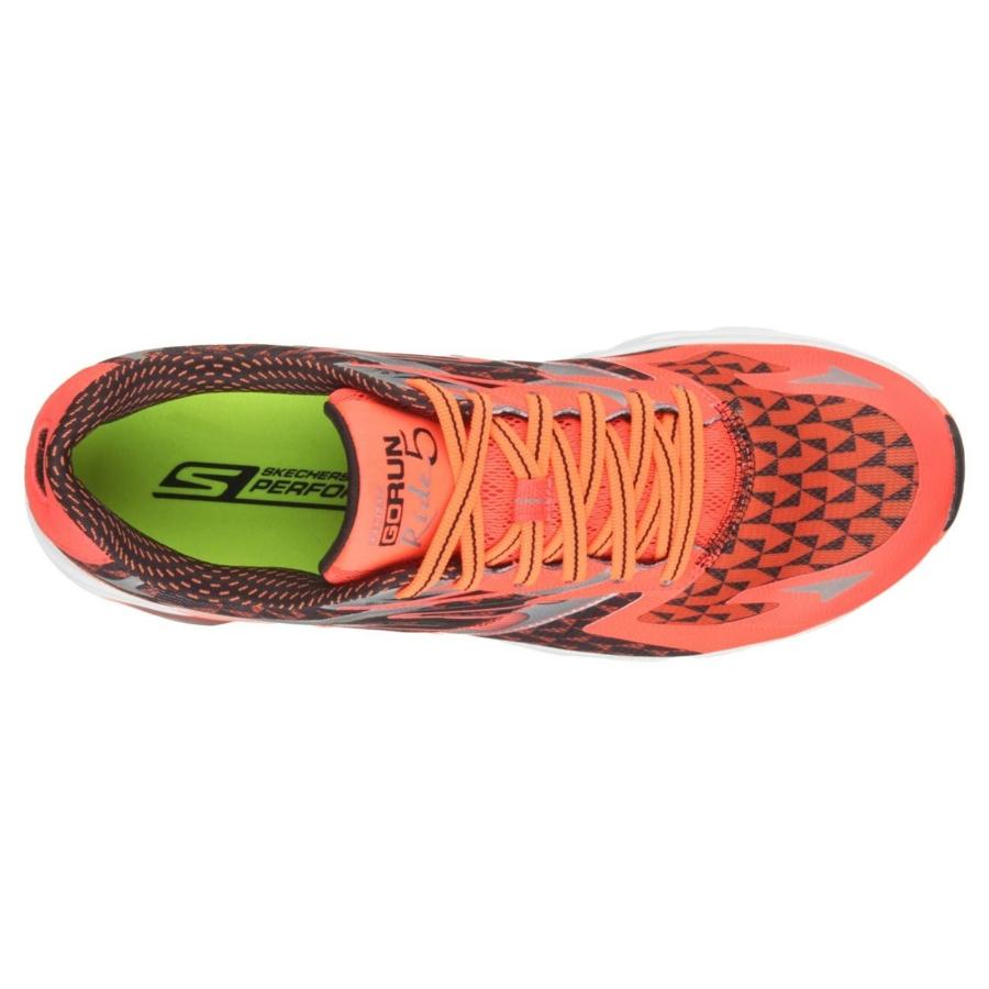 Kép 4/7 - Skechers GoRun Ride 5 férfi futócipő - narancssárga-fekete 3