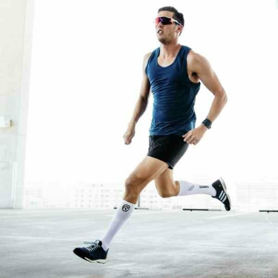 Kép 3/3 - Rehband RX kompressziós zokni - fehér 2