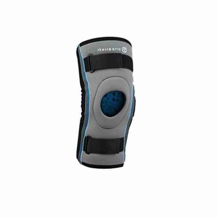 Kép 1/3 - Rehband Hyper-X térdvédő - szürke-fekete-kék