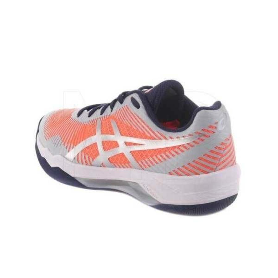 Kép 4/4 - Asics Volley Elite Női Kézilabda Cipő - rózsaszín-szürke-kék 3