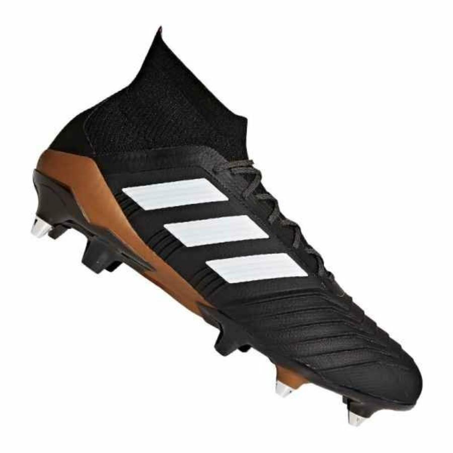 Kép 3/4 - Adidas Predator 18.1 SG fél éles Férfi stoplis cipő - fekete-barna-fehér 2