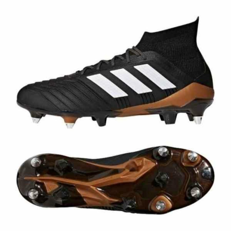 Kép 4/4 - Adidas Predator 18.1 SG fél éles Férfi stoplis cipő - fekete-barna-fehér 3
