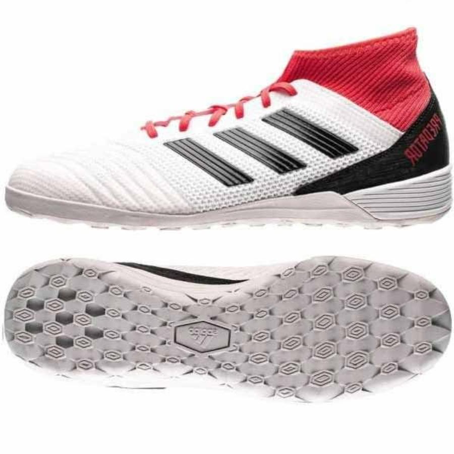 Kép 4/4 - Adidas Predator Tango 18.3 Férfi teremcipő - fehér-piros-fekete 3
