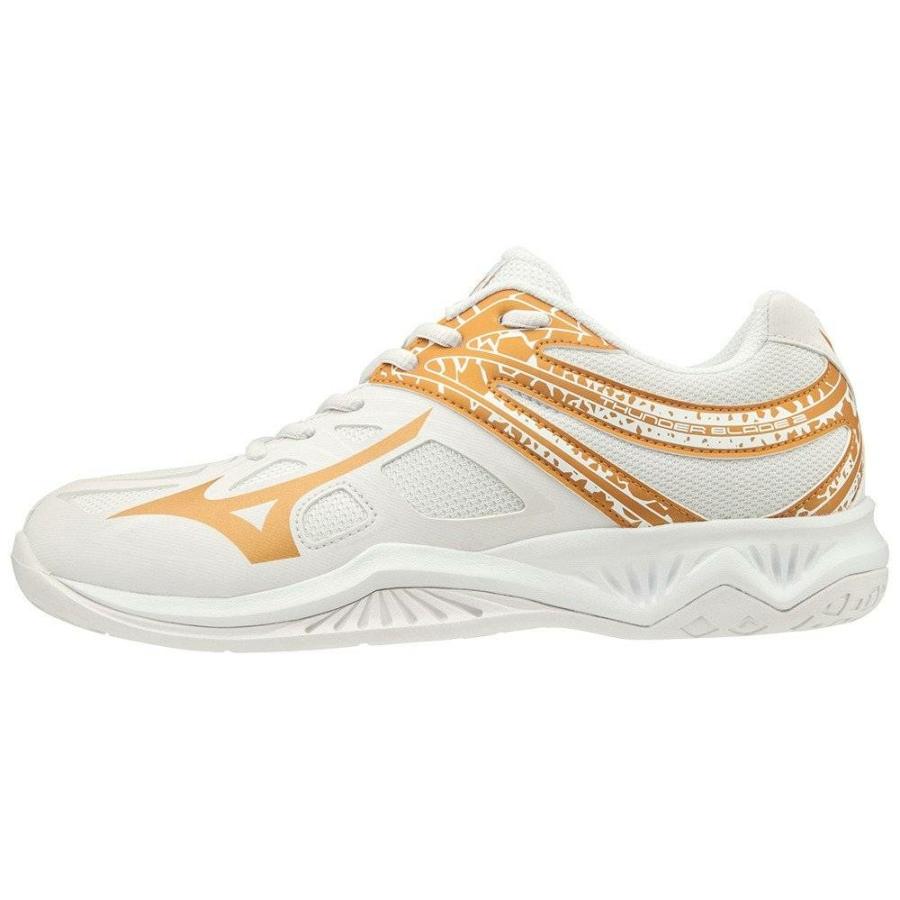 Kép 1/4 - MIZUNO THUNDER BLABDE 2 feher női kézilabda cipő