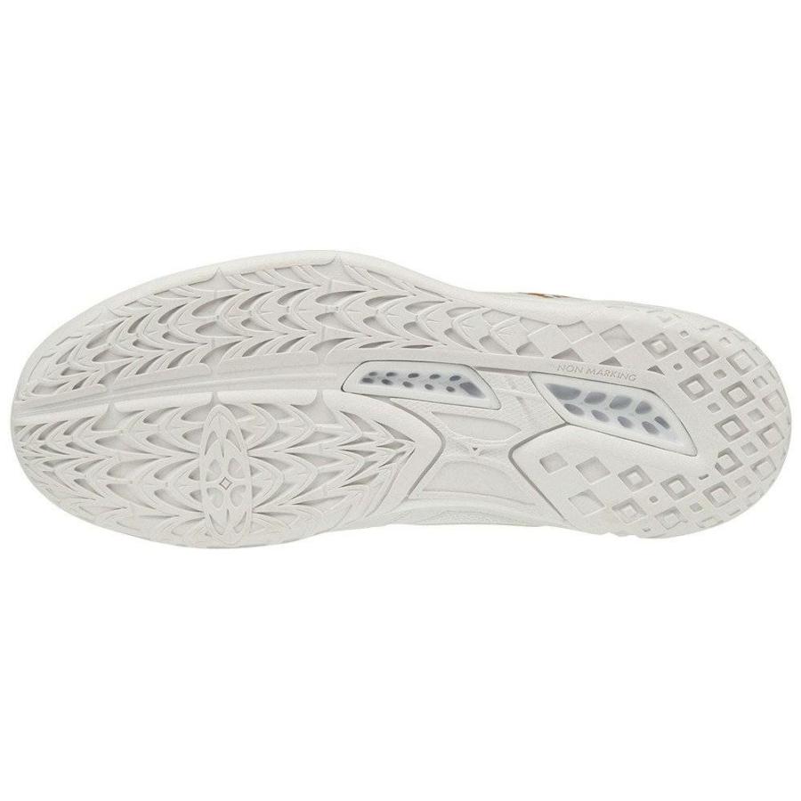 Kép 2/4 - MIZUNO THUNDER BLABDE 2 feher női kézilabda cipő 1